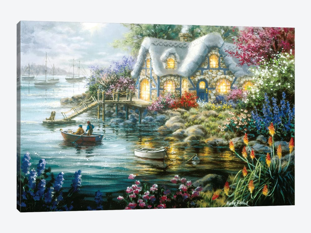 Cottage Cove by Nicky Boehme 1-piece Art Print