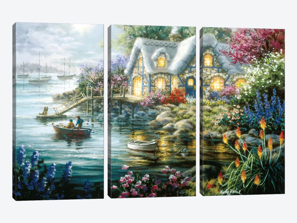 Cottage Cove by Nicky Boehme 3-piece Canvas Art Print