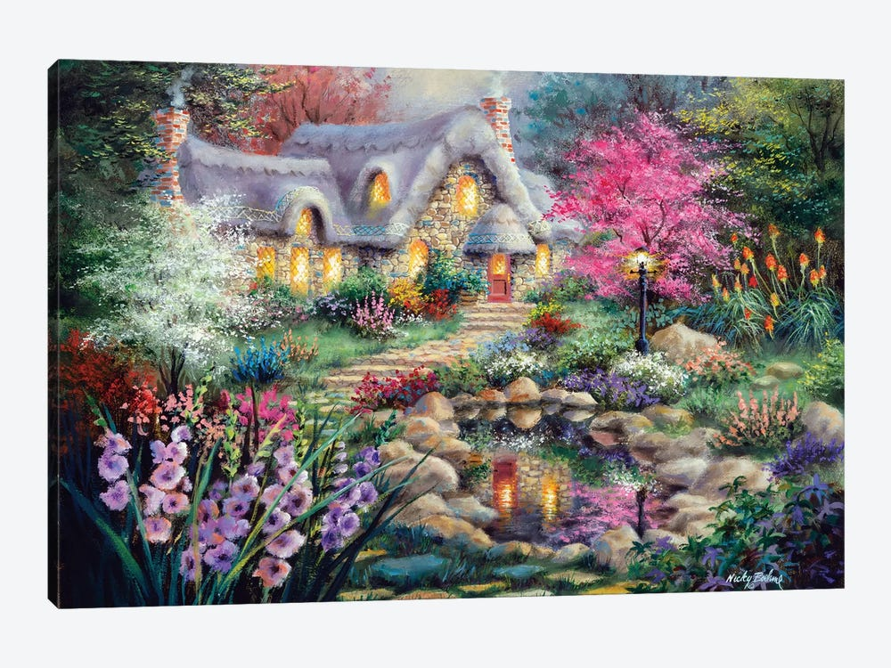 Cottage Pond by Nicky Boehme 1-piece Canvas Print