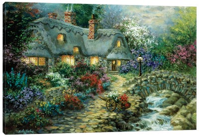 Country Cottage Canvas Print #BOE39