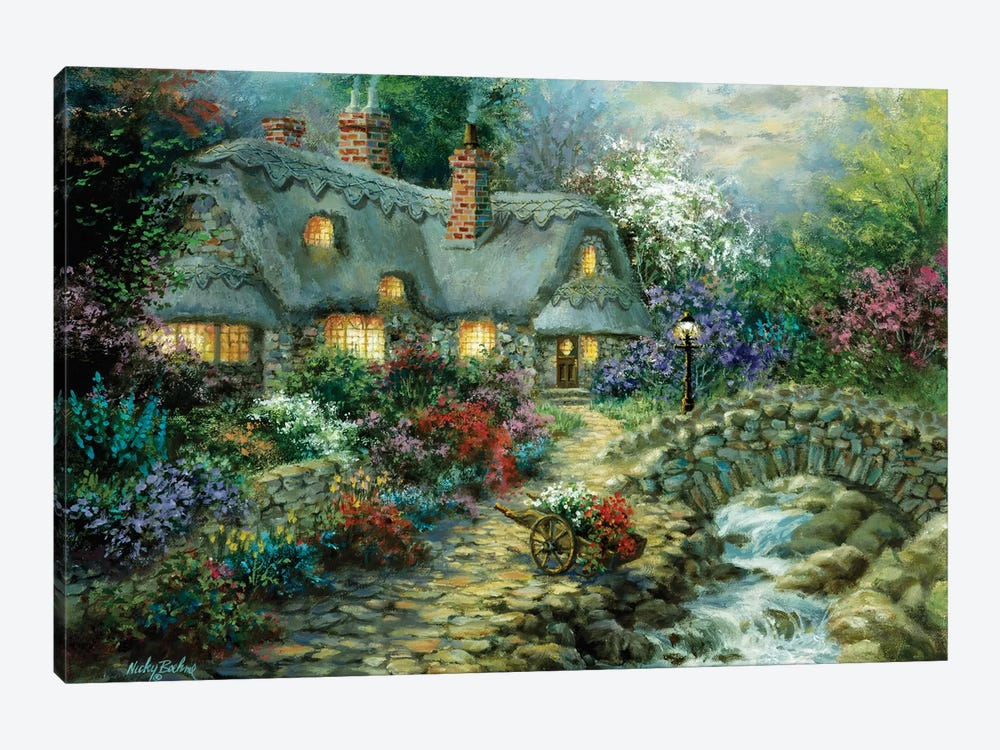 Country Cottage by Nicky Boehme 1-piece Art Print