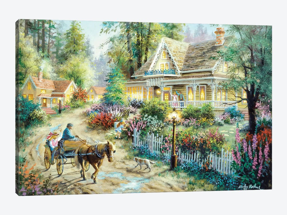 A Country Greeting by Nicky Boehme 1-piece Art Print