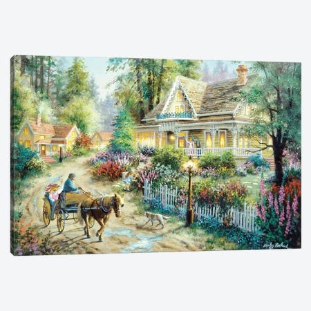 A Country Greeting Canvas Print #BOE3} by Nicky Boehme Canvas Artwork