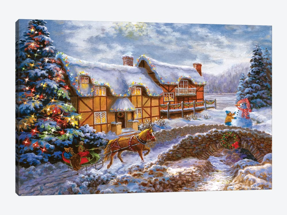 Country Cottages by Nicky Boehme 1-piece Art Print