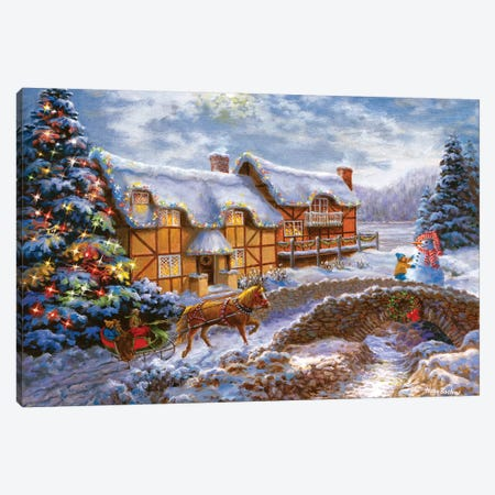 Country Cottages Canvas Print #BOE40} by Nicky Boehme Canvas Art