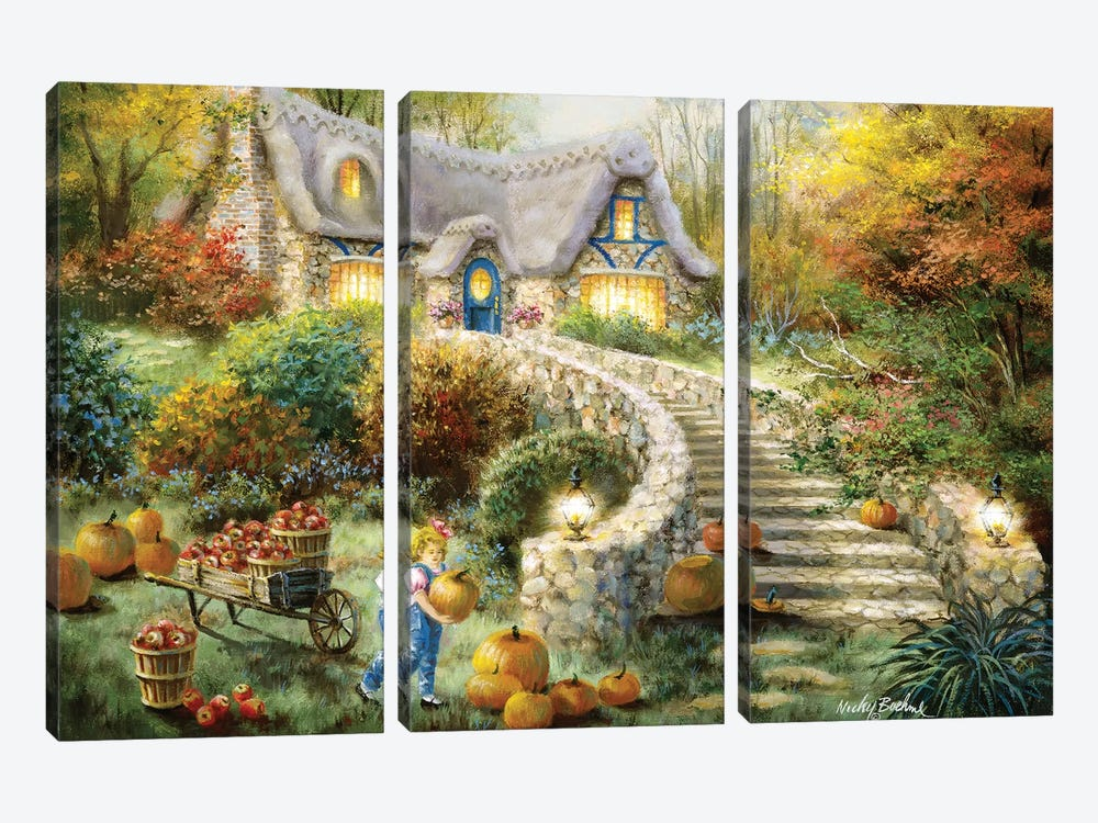 Country Harvest by Nicky Boehme 3-piece Canvas Art