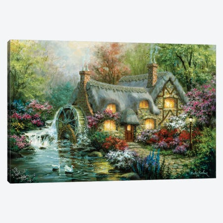 Country Retreat Canvas Print #BOE42} by Nicky Boehme Canvas Artwork