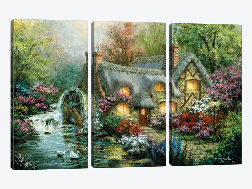 Country Retreat by Nicky Boehme 3-piece Art Print