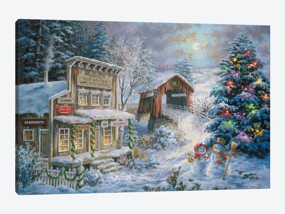 Country Shopping by Nicky Boehme 1-piece Canvas Art