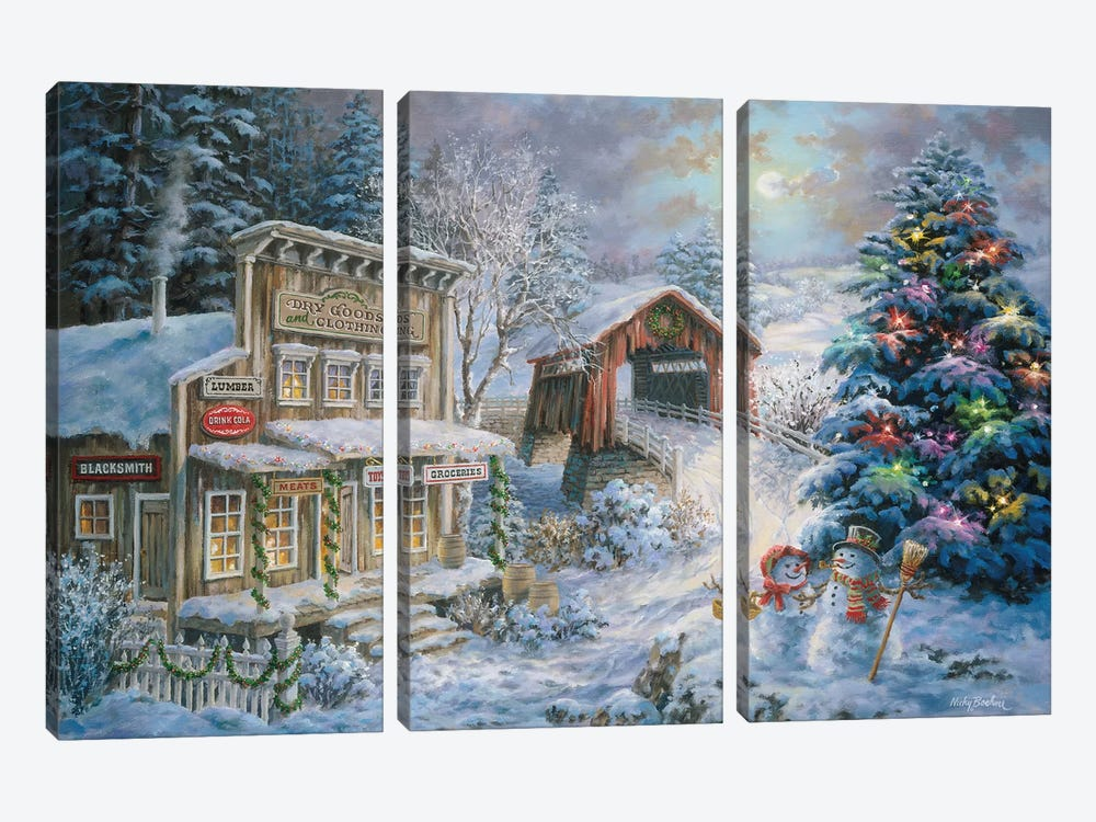 Country Shopping by Nicky Boehme 3-piece Canvas Artwork