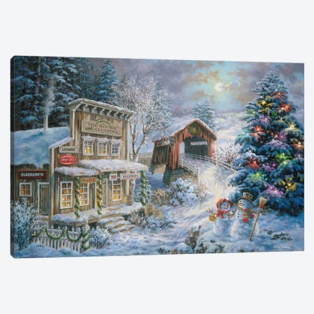 Country Shopping Canvas Print #BOE43} by Nicky Boehme Canvas Artwork