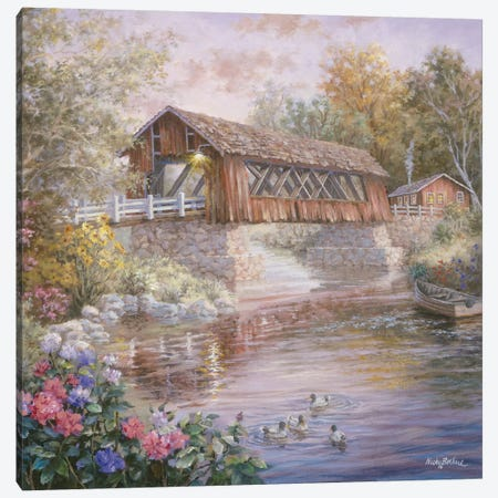 Country Thoroughfare Canvas Print #BOE44} by Nicky Boehme Canvas Print