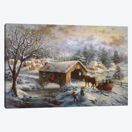 Covered Bridge Canvas Print #BOE45} by Nicky Boehme Canvas Print