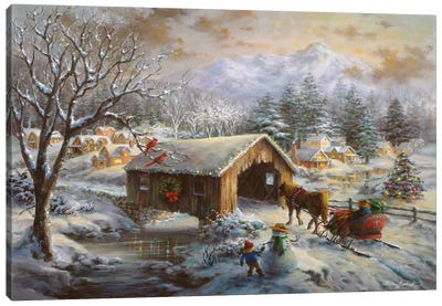 Covered Bridge Canvas Art Print