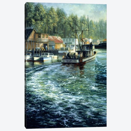 Dawn Patrol Canvas Print #BOE47} by Nicky Boehme Canvas Print