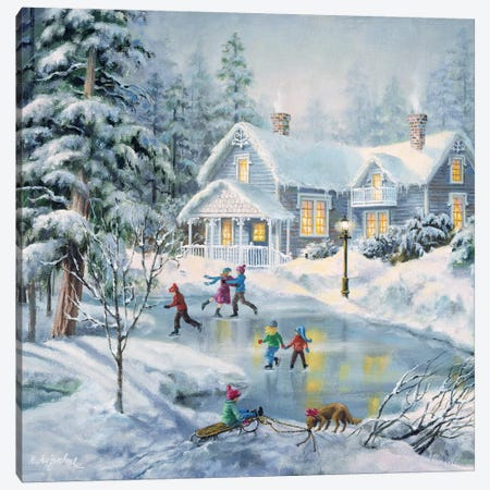 A Fine Winter's Eve Canvas Print #BOE4} by Nicky Boehme Canvas Print