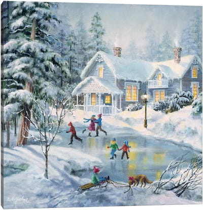 A Fine Winter's Eve Canvas Art Print