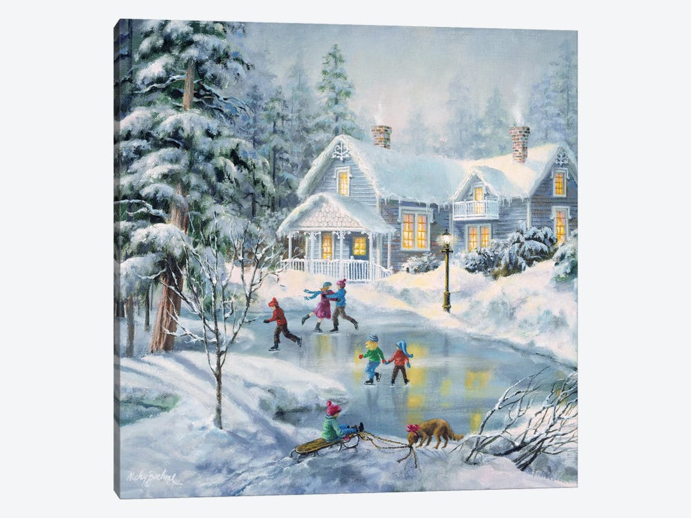 A Fine Winter's Eve by Nicky Boehme 1-piece Canvas Art