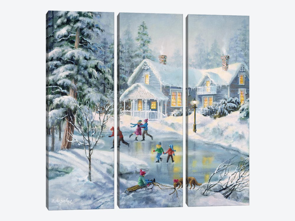 A Fine Winter's Eve by Nicky Boehme 3-piece Canvas Artwork