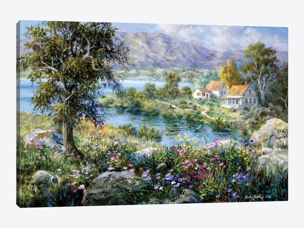 Enchanted Cottage by Nicky Boehme 1-piece Canvas Print