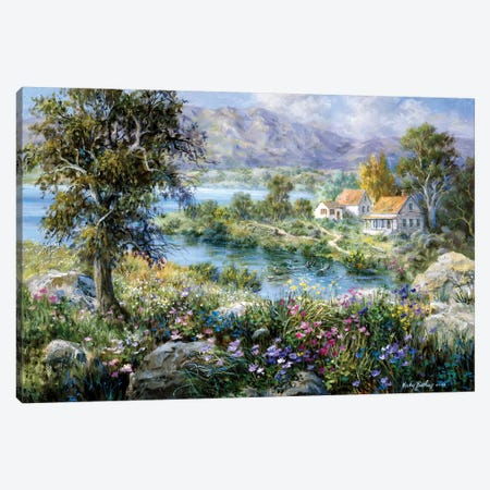 Enchanted Cottage Canvas Print #BOE53} by Nicky Boehme Canvas Art Print