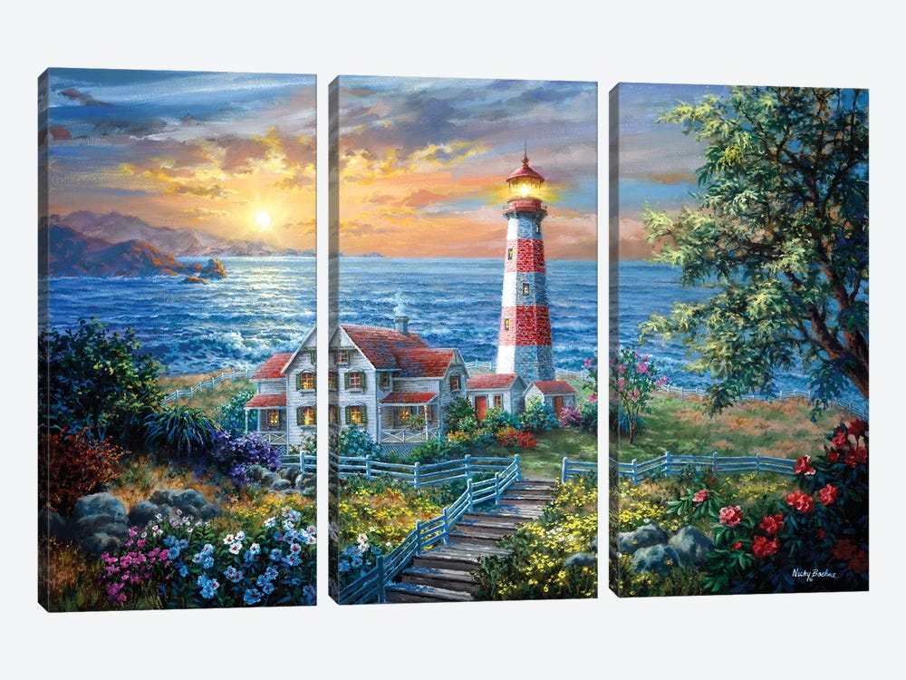 Enchantment by Nicky Boehme 3-piece Canvas Art
