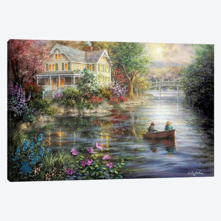 Evening Reflections Canvas Print #BOE55} by Nicky Boehme Canvas Art