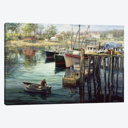 Fisherman's Domain Canvas Print #BOE57} by Nicky Boehme Canvas Art