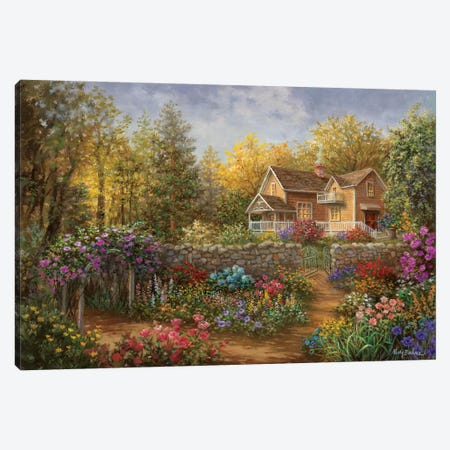 A Pathway Of Color Canvas Print #BOE5} by Nicky Boehme Canvas Art Print