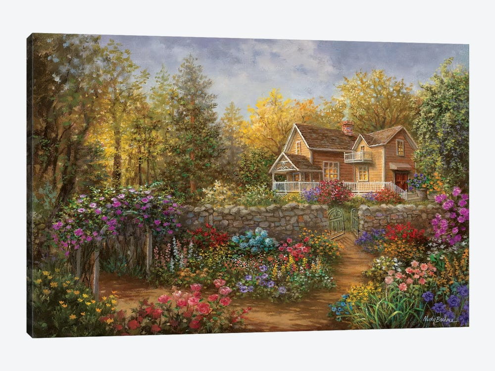 A Pathway Of Color by Nicky Boehme 1-piece Canvas Art Print