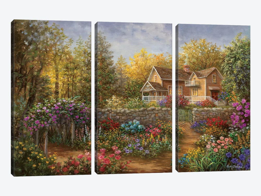 A Pathway Of Color by Nicky Boehme 3-piece Canvas Art Print