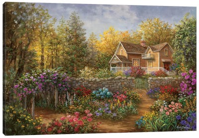 A Pathway Of Color Canvas Art Print