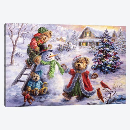 Fun Loving Merriment Canvas Print #BOE60} by Nicky Boehme Canvas Wall Art