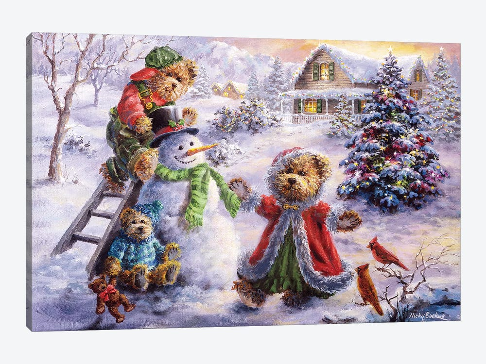 Fun Loving Merriment by Nicky Boehme 1-piece Art Print