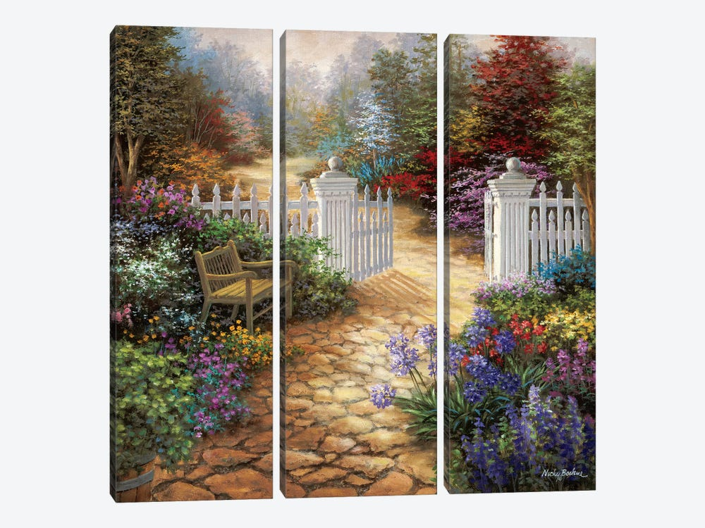 Gateway To Enchantment by Nicky Boehme 3-piece Canvas Art Print