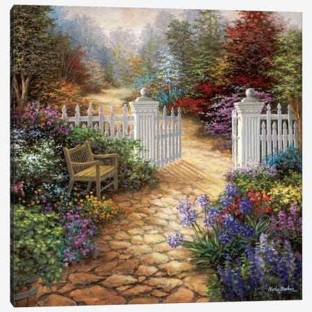 Gateway To Enchantment 3-Piece Canvas #BOE62} by Nicky Boehme Canvas Wall Art