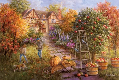 Gathering Fall Canvas Art Print By Nicky Boehme Icanvas