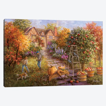 Gathering Fall Canvas Print #BOE63} by Nicky Boehme Canvas Artwork