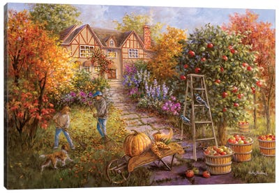 Gathering Fall Canvas Art Print