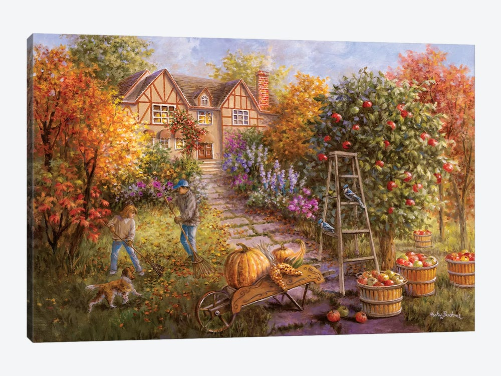 Gathering Fall by Nicky Boehme 1-piece Canvas Wall Art