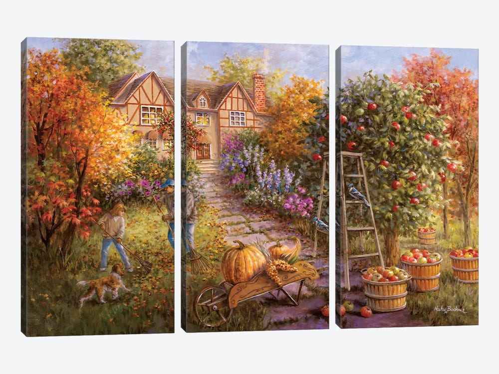 Gathering Fall by Nicky Boehme 3-piece Canvas Artwork