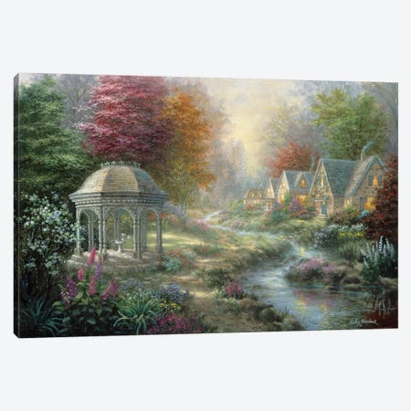 Gazebo Village Canvas Print #BOE64} by Nicky Boehme Canvas Art Print