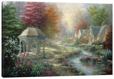 Gazebo Village Canvas Art Print