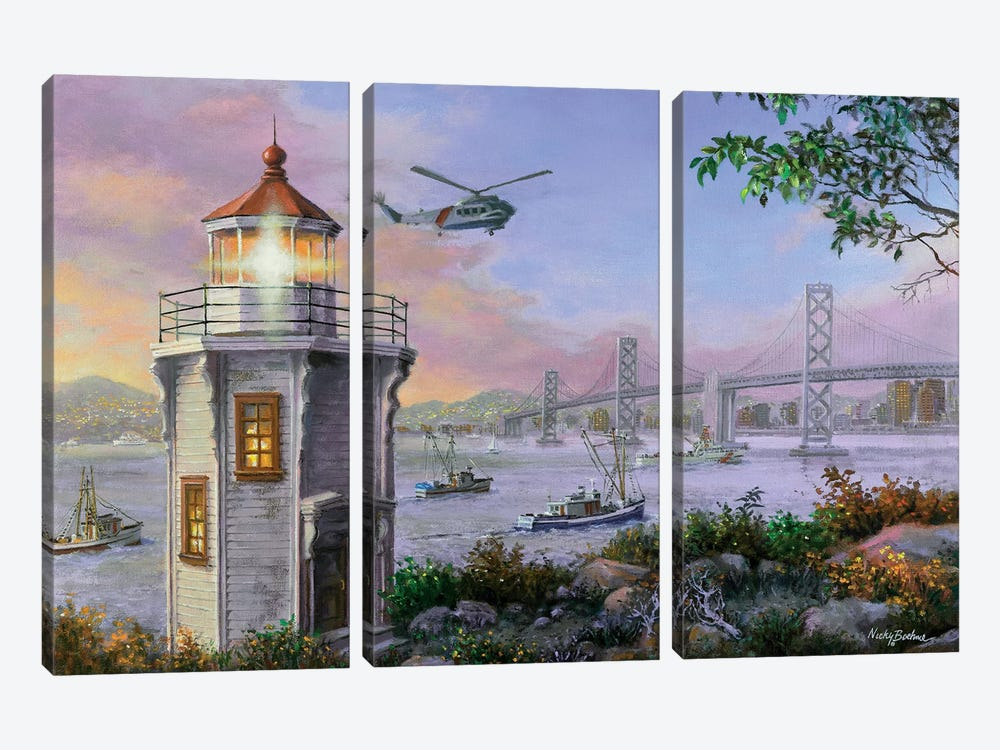 Golden Bliss by Nicky Boehme 3-piece Canvas Print