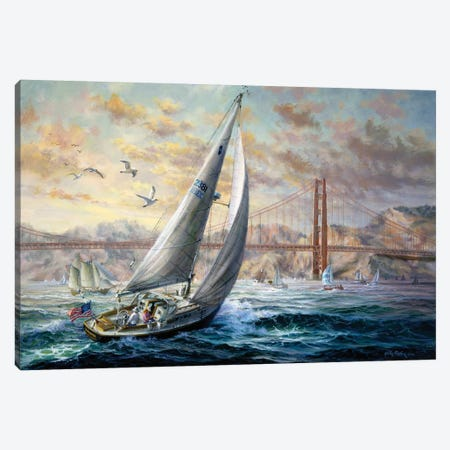 Golden Gate Canvas Print #BOE67} by Nicky Boehme Canvas Art Print