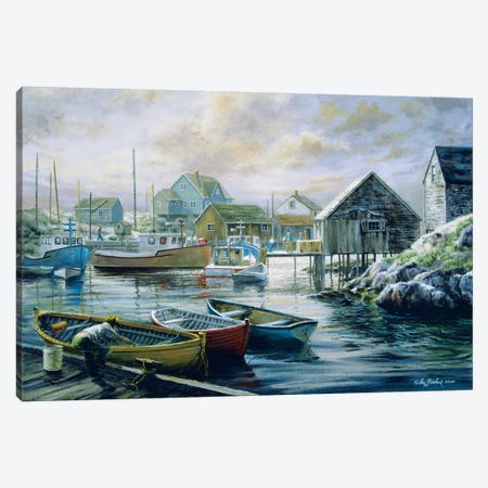 Good Catch For A Lazy Day Canvas Print #BOE68} by Nicky Boehme Canvas Art