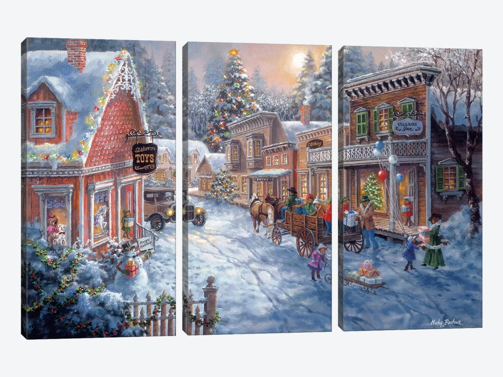 Good Old Days by Nicky Boehme 3-piece Canvas Wall Art