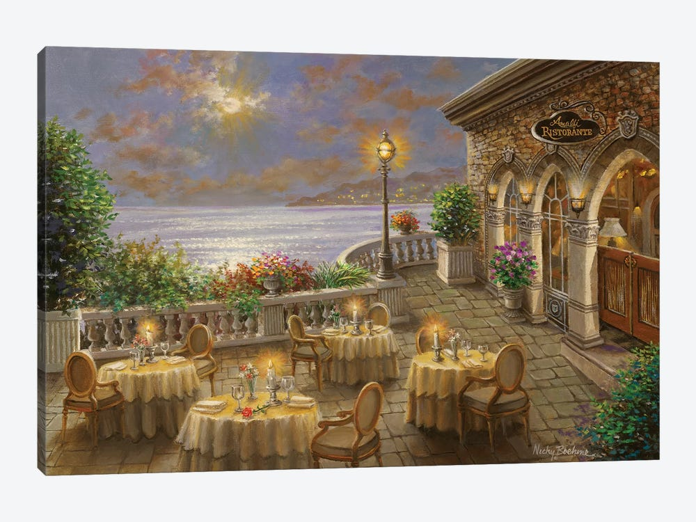 A Romantic Dining Invitation by Nicky Boehme 1-piece Canvas Artwork