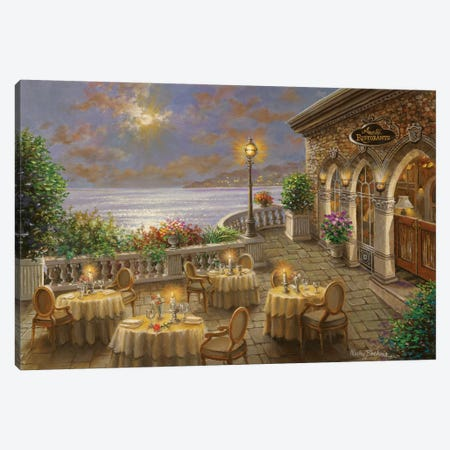 A Romantic Dining Invitation Canvas Print #BOE6} by Nicky Boehme Art Print