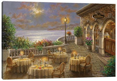 A Romantic Dining Invitation Canvas Art Print